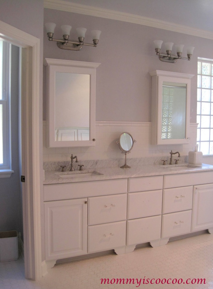 Master bathroom reveal pretty much the back and bathroom vanities for Master bathroom vanity cabinets