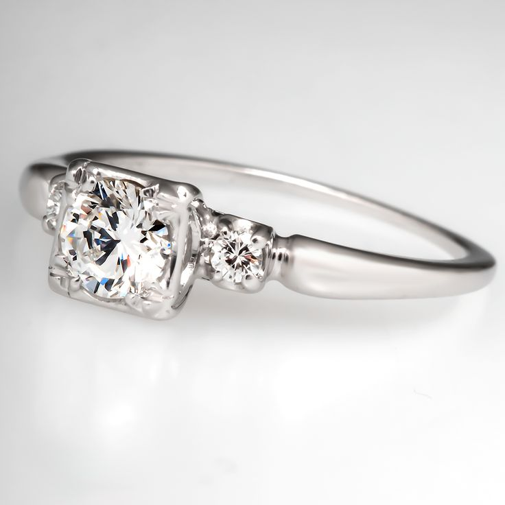 Absolutely beautiful!! Vintage Jabel Diamond Engagement Ring Platinum