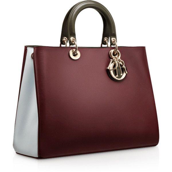 "DIORISSIMO Small Jaune Vif leather ""Diorissimo'""bag found on Polyvore"