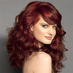 Coloration cheveux rouge rubis