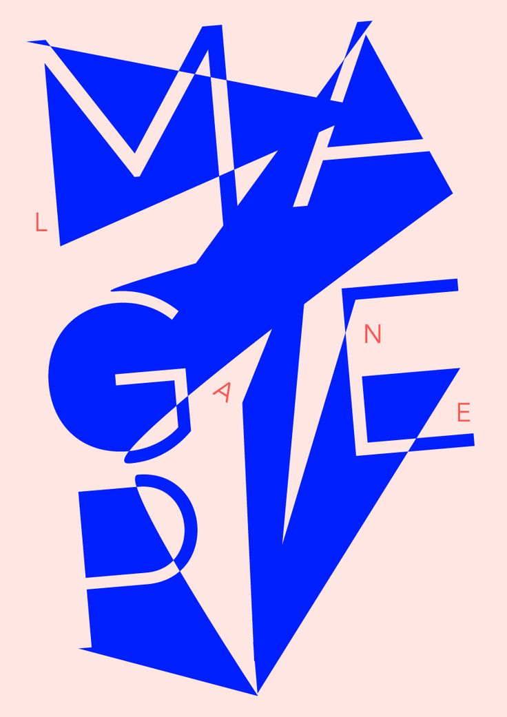 // Magpie Lane Type Poster by Zarina Linddahl