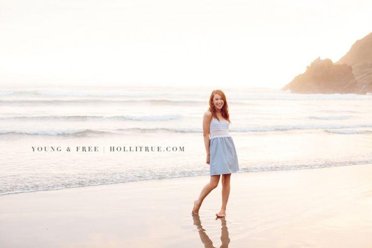 Oregon senior portrait photographer for the young & free photographs class of 2014 high school senior, Katy, at Indian Beach on the Oregon Coast.