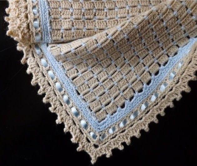 Colchas e mantas de tecido de crochê para bebês com padrões ⋆ Artesanato e bricolage ...