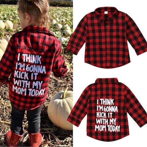 Toddler Kids Baby Boy Cotton Long Sleeve Plaids Shirt Tops Blouse Clothes