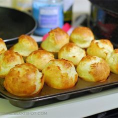 "Sky High Yorkshire Pudding | ""I have made this 3 years in a row with our Christmas Eve prime rib dinner and it's wonderful. It has never failed and everyone always comes back for seconds. Add the pinch of salt, use room temperature ingredients and place cookie sheets under your muffin tins to keep your oven clean. It's a no fail delicious recipe."""