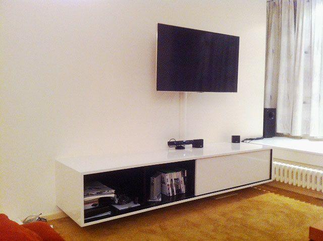 Tv Meubel Zelf Bouwen.Do It Yourself Floating Tv Stand By Neo Eko Zelfbouw Hangend Tv
