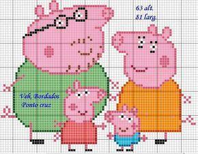Peppa Pig perler bead pattern