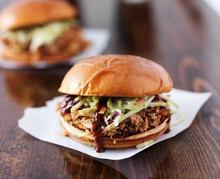 Pulled Pork and Coleslaw Sandwiches