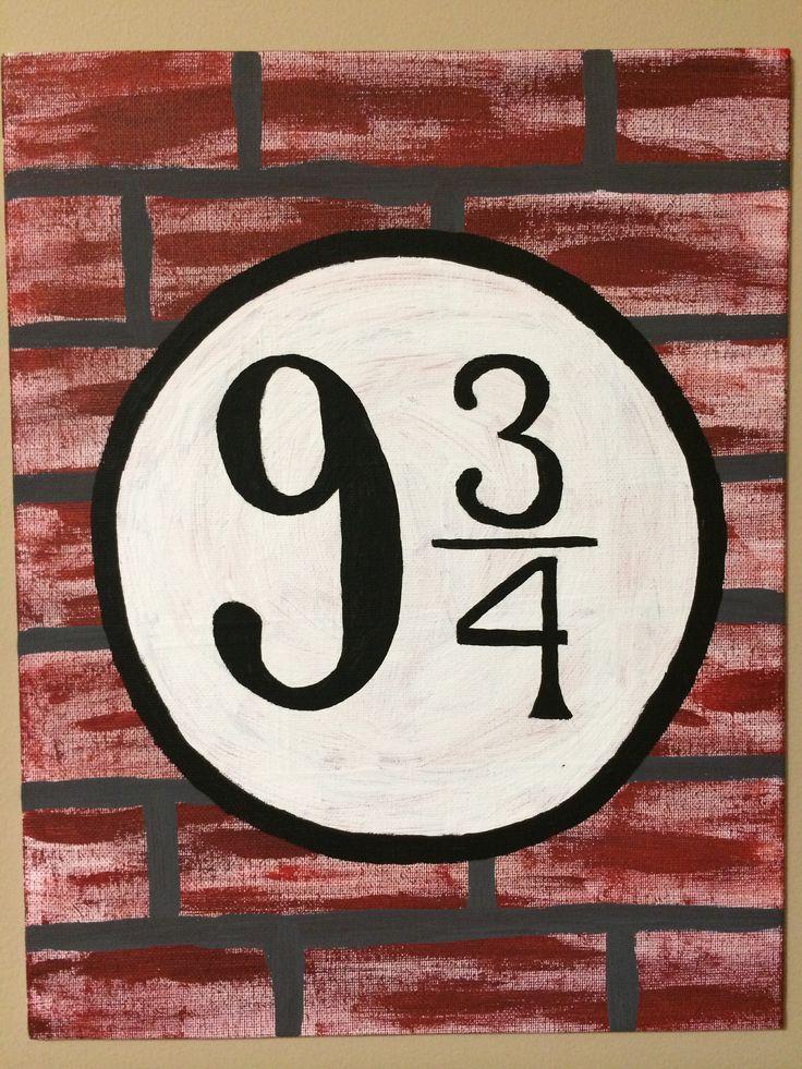 Platform nine and three quarters! Harry Potter DIY canvas painting.