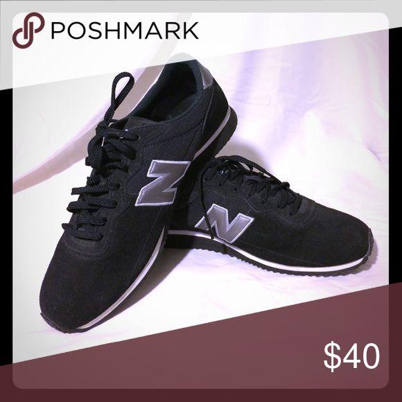 Running shoes New balance hardly worn lace-ups. Black suede with black laces. New Balance Shoes Athletic Shoes