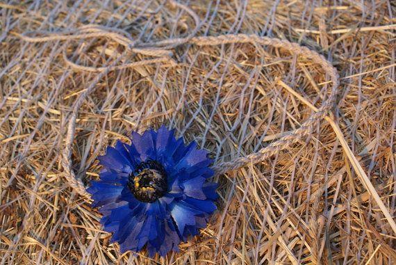 Blue Hippie  Headband Cornflower Floral Crown Blue Wedding Burlap Accessories Bohemian Blue Flower Rustic Wedding Festival Floral Headband