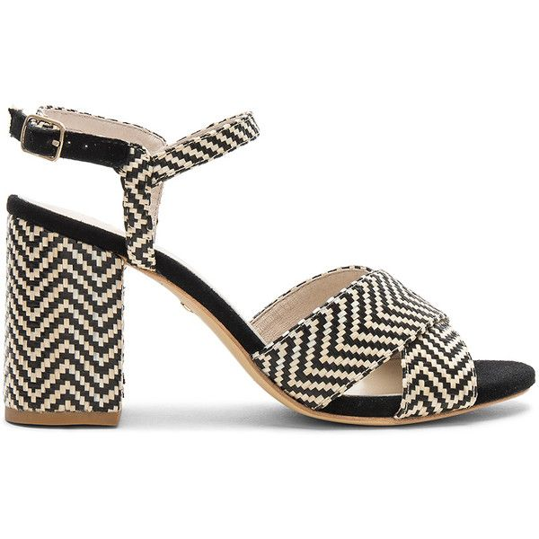 RAYE Dorado Sandal (€135) ❤ liked on Polyvore featuring shoes, sandals, leather sole shoes, braided sandals, high heels sandals, straw sandals and high heeled footwear