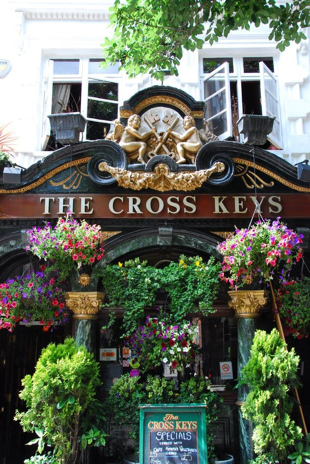The Cross Keys Pub, Covent Garden London I didn't know pubs could look like this.