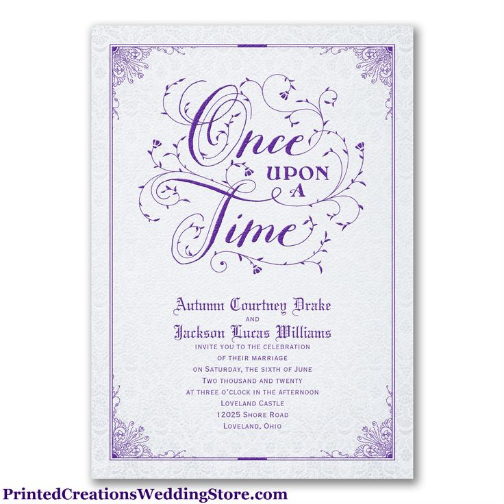 Timeless Romance Invitation   This Wedding Invitation Is Perfect For Your  Fairytale Romance. See This