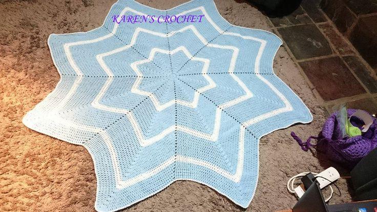 8 point star blanket for my new little grandson,