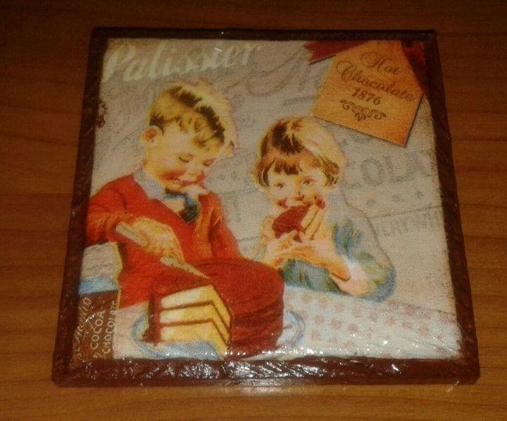 Decorazioni da parete - Quadretto quadrato legno decoupage bambini torta - un prodotto unico di danif5 su DaWanda