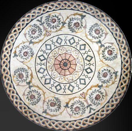 Таможня Конструировала Мраморная Мозаика Медальон Плитка - Венецианская Мозаика Плитка Искусства