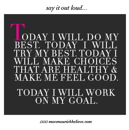 Love this - I think it speaks volumes not only to our physical goals, but to our mental and life goals. Make healthy choices in all elements of your life - there aren't just fatty food choices, there are also some 'fatty people' choice out there that need to be avoided.