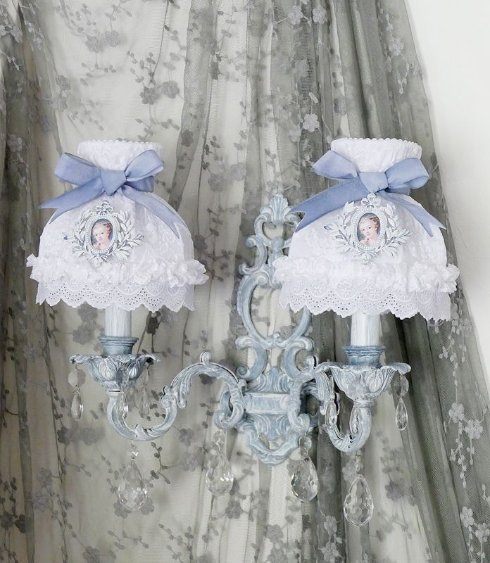 50 best abat jour conique shabby chic lampshade french for Tenue shabby chic