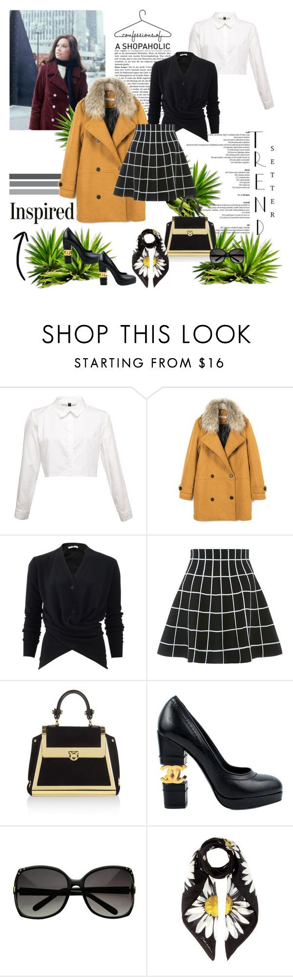 """INSPIRED: MARY TYLER MOORE SHOW-THE CLASSIC LADY, ON HER OWN AND LOVE'IN IT!"" by g-vah-styles ❤ liked on Polyvore featuring Tomas Maier, Salvatore Ferragamo, Chanel and Dolce&Gabbana"
