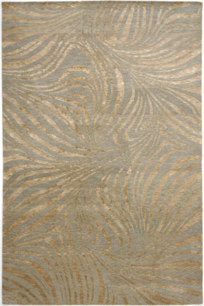 Rugstudio Presents Jaipur Rugs Earth Rivers Swirl Fog Hand Knotted Good Quality Area Rug