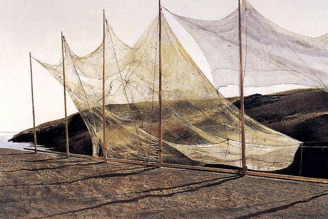 Andrew Wyeth 'Pentecost' 1989, tempera paint by Plum leaves, via Flickr: