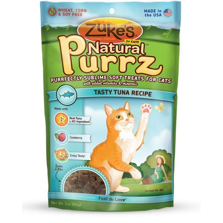 Zuke's Natural Purrz Tasty Tuna Cat Treats are a healthy alternative to traditional cat treats. Cats are known for being finicky, but even the most discerning felines can't resist the delectable taste of Natural Purrz.