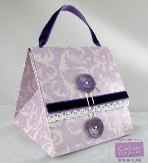 For the last HSN show, Sara Davies shared several projects for The Big Score and Kendramade this cute folded purse a single sheet of 1...