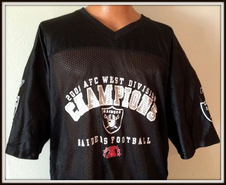 VINTAGE 2001 OAKLAND RAIDERS RICH GANNON AFC CHAMPIONS JERSEY ADULT XXLARGE