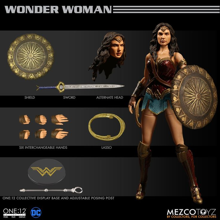 Up for preorder: Mezco One:12 Wonder Woman! Featuring a retooled likeness, true to movie accurate costume (and body shape) and accessories. Now THIS is a 6 inch figure worthy of your collection unlike the monstrosities from Mattel.  Preorder at: http://www.bigbadtoystore.com/bbts/product.aspx?product=MEZ11131&mode=retail&utm_source=youtube&utm_medium=link&utm_campaign=hunterknight4