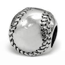 Chamilia Baseball Bead Charm 925 Sterling silver #GD-2