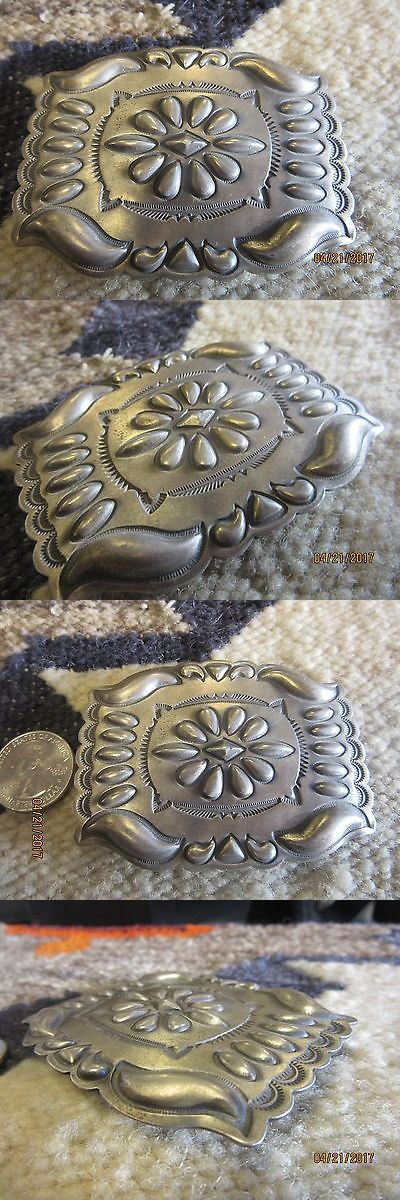 Other Native American Jewelry 11315: 3 Sterling Silver Handstamped Belt Buckle By Stan Parker. 45 Grams -> BUY IT NOW ONLY: $225 on eBay!