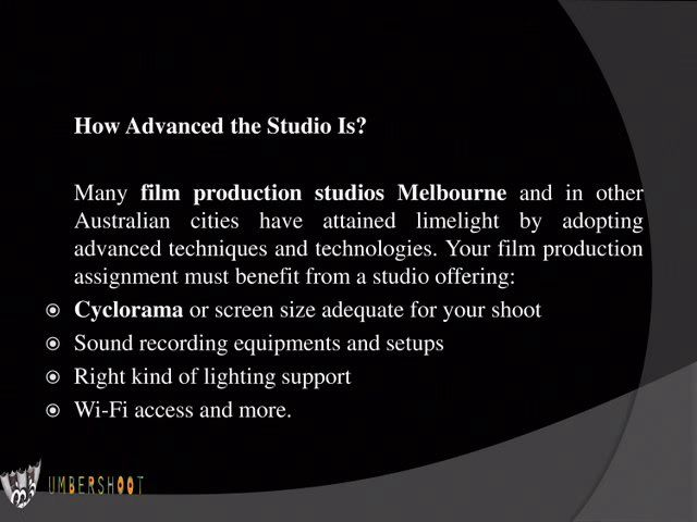 Tips for Novice Australian Filmmakers to Choose Film Production Company  Read More Information About us at: http://www.umbershoot.com