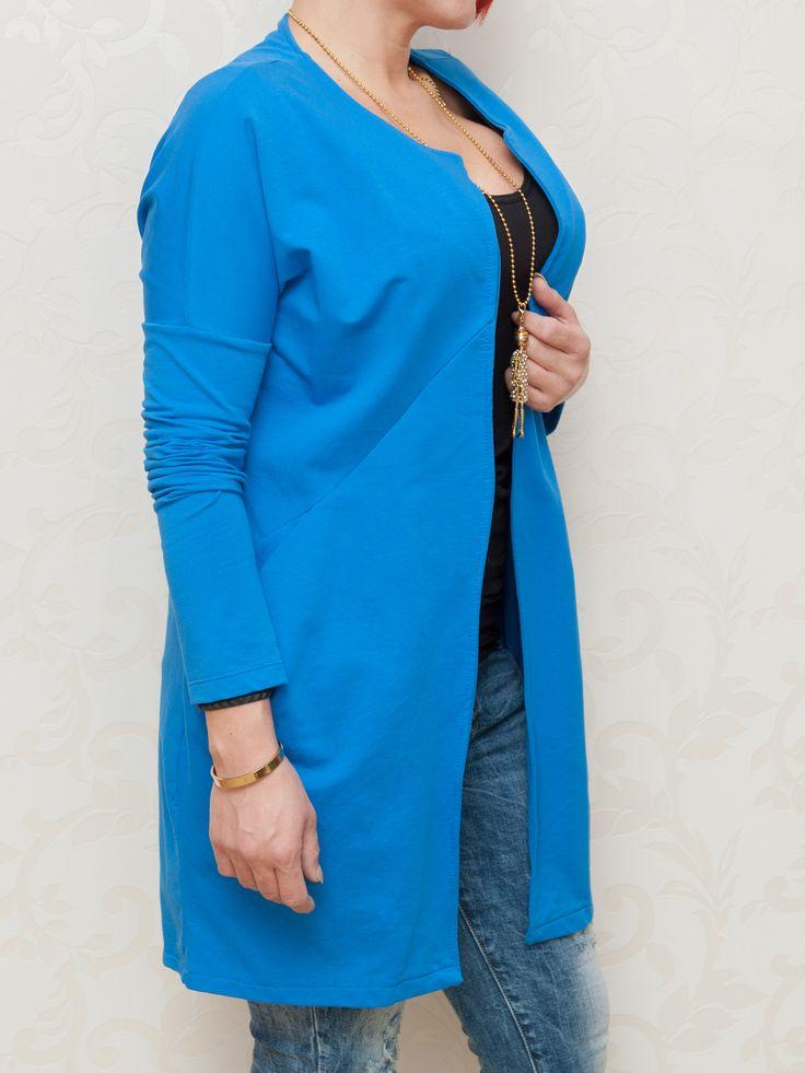 Dlhá modrá mikina #mikina #modrá