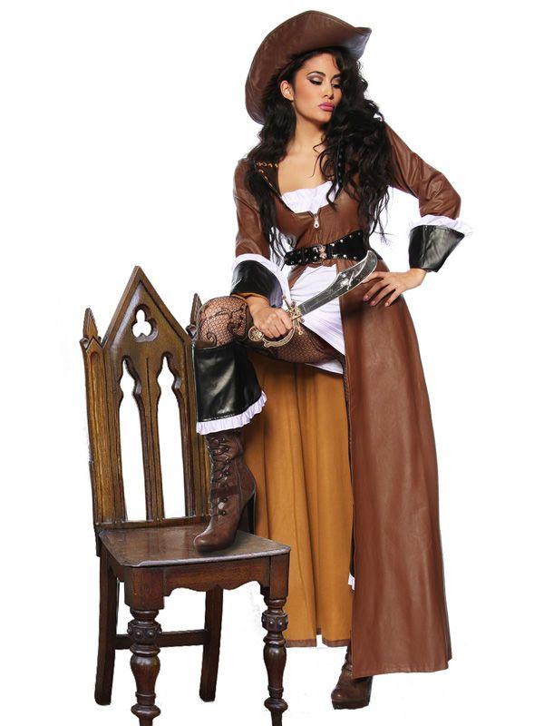 Heisse Piratenbraut Piratin Damenkostüm braun-weiss-schwarz, aus unserer Kategorie #Piratenkostüme. Das Damenkostüm besticht durch seinen einzigartigen Stil und seine einmalige Eleganz. Egal ob zu Fasching oder zur nächsten #Mottoparty, in diesem #Seeräuber-Outfit werden Sie zur Königin der sieben Weltmeere!