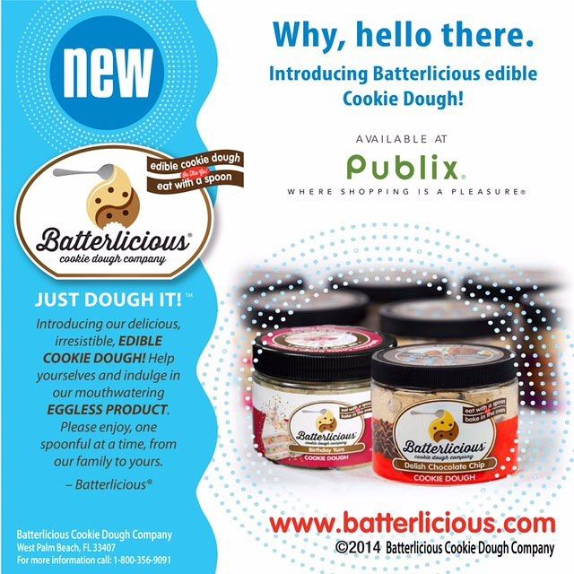 Thank you @publix for making Batterlicious part of the Publix family. You heard it guys! Go to any Publix store nationwide for your favorite cookie dough treat! Just dough it! #sunday #sundayfunday #publix #whereshoppingisapleasure #grocery #dough #yum #treatyourself #cookiedough #dessertgoals #celebrate #specialtreat #cookiedoughlovers #cookie #sweet #dessert #ediblecookiedough #eatwithspoon #bakeinoven #foodie #foodporn #foodgod #somethingspecial #justdoughit #doughlicious #doughme…