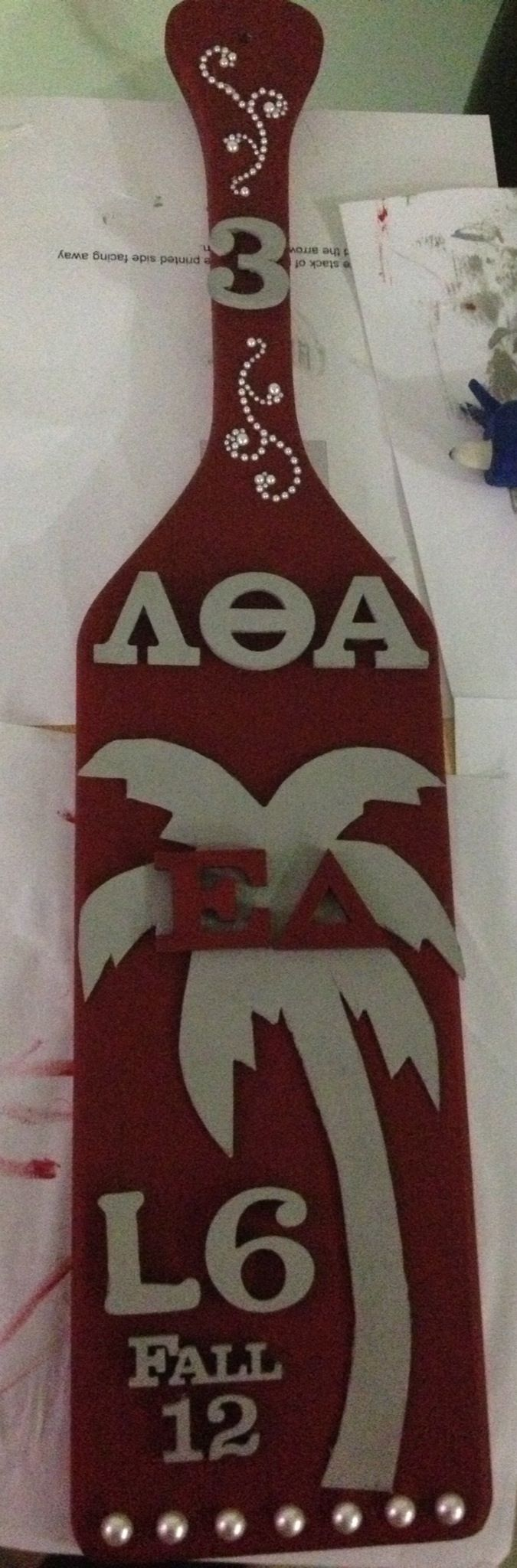 Might have to make this with my chapter. ΓΨ Lambda Theta Alpha paddle