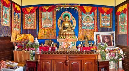 Buddhist Altars In The Home Phen Dhe Ling Buddhist Centre Tibetan Ancient Ritual Arts