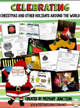 This unit contains everything you need to successfully do Christmas and Other Holidays Around the World with your class. Included are passports, airline tickets, emergent readers, fluency sheets with comprehension questions, crafts (with templates included), country welcome signs, and book and music suggestions for the following countries: China, England, Ethiopia, France, Germany, Holland, Italy, Israel, Mexico, and Sweden.