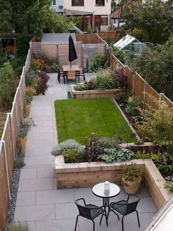 Narrow Backyard Landscaping Landscaping In 2020 Backyard Garden