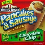 Chocolate Chip Pancake And Sausage On A Stick.  Why?