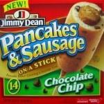 Chocolate Chip Pancake And Sausage On A Stick