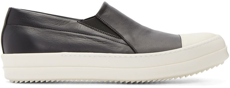 Rick Owens - Black Boat Slip-On Sneakers