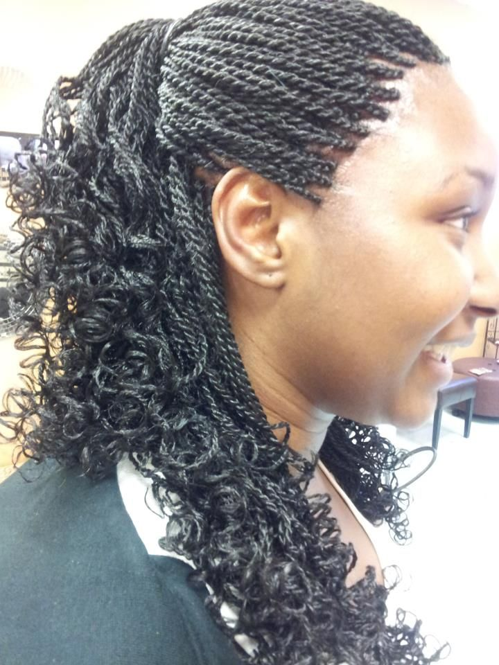 curly senegalese twists hairy