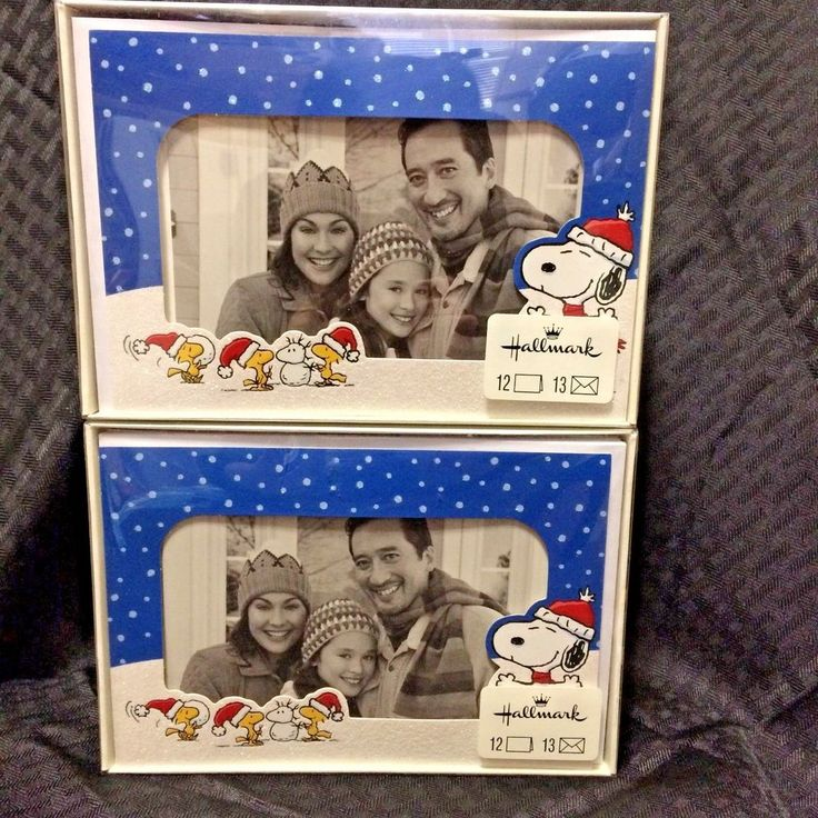 Hallmark Greeting Cards Peanuts Snoopy Woodstock Glitter Picture Frame Christmas #Hallmark #Christmas