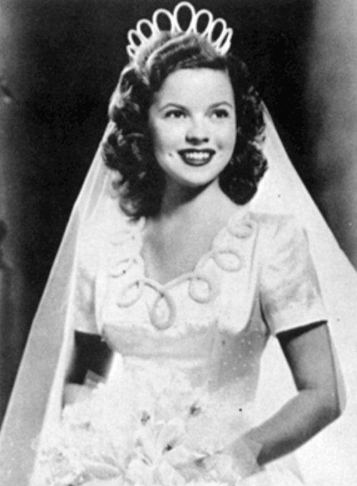 Traditional wedding dress, Los Angeles, 1945.