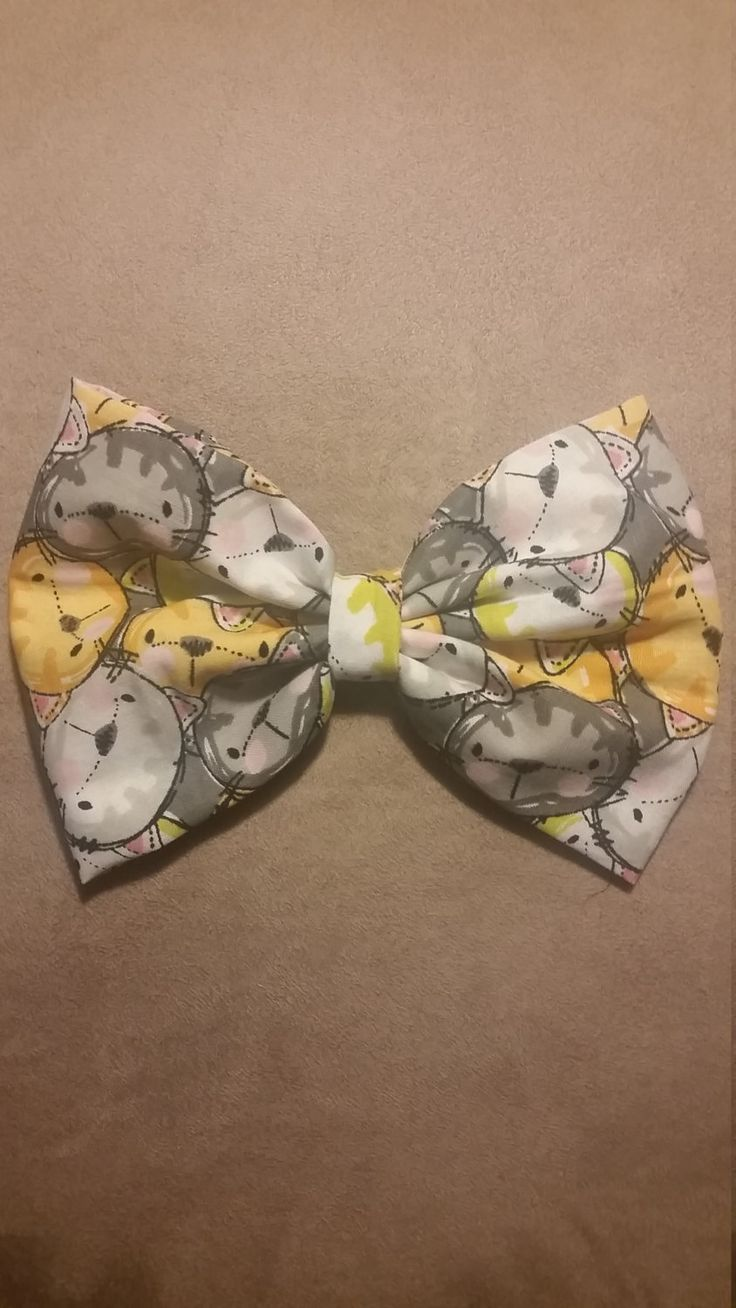 Cat lover's bow by lilbeautysbowtique on Etsy