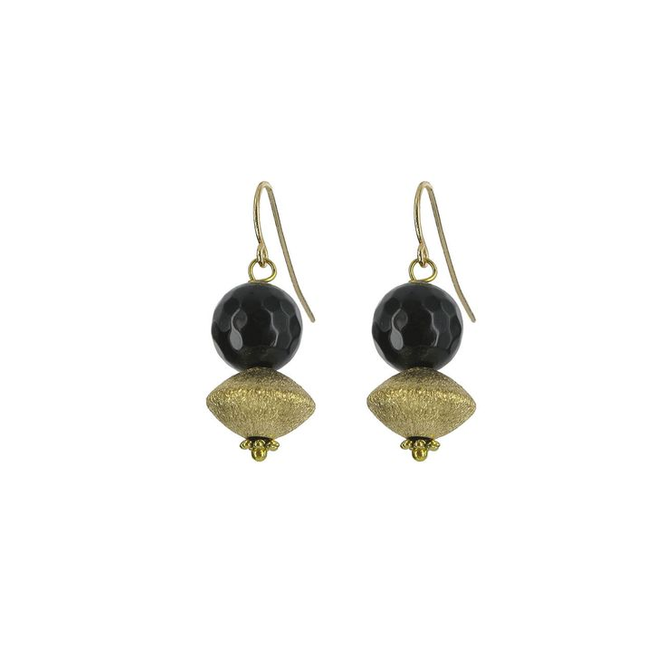 Gold and black onyx earrings (British Museum exclusive) at British Museum shop online