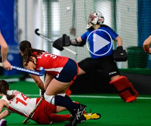 Highlight video from the USA vs CAN series at Spooky Nook Sports featuring impressive views of the dome, Team USA pride and exciting hockey highlights!