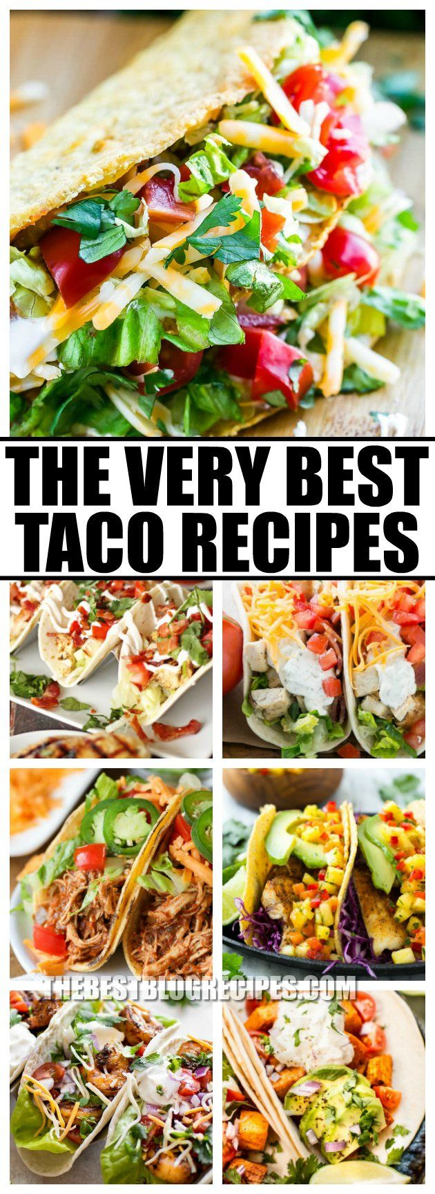 For this Taco Tuesday try out The Best Taco Recipes! These recipes are flavorful, delicious, and perfect for an easy to make family dinner! via @bestblogrecipes